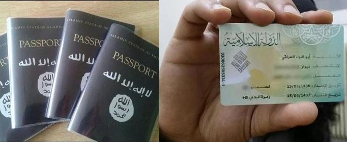 Isis passport ID card