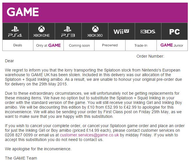 Game UK Splatoon Apology