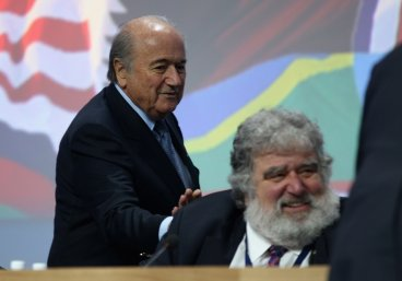 Sepp Blatter and Chuck Blazer