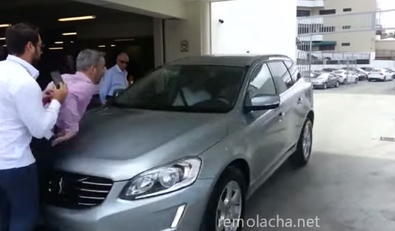 Volvo auto-braking car crash