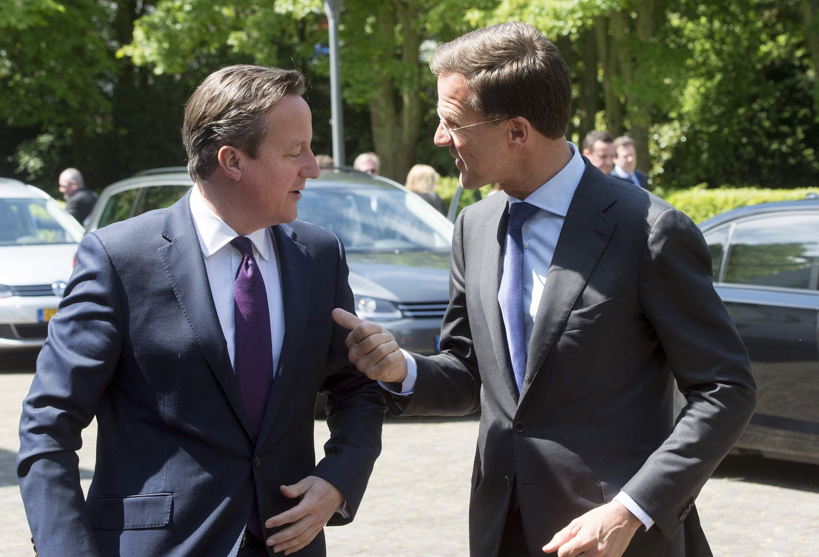 Rutte and Cameron in The Hague
