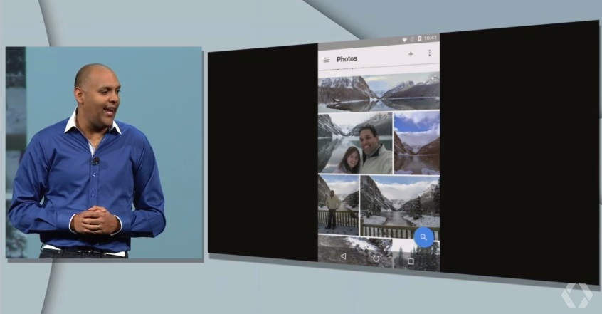 Google Photos app at Google I/O 2015