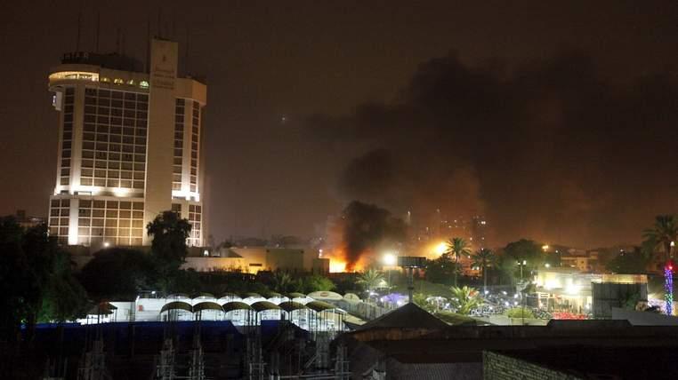 Iraq hotel bomb blasts