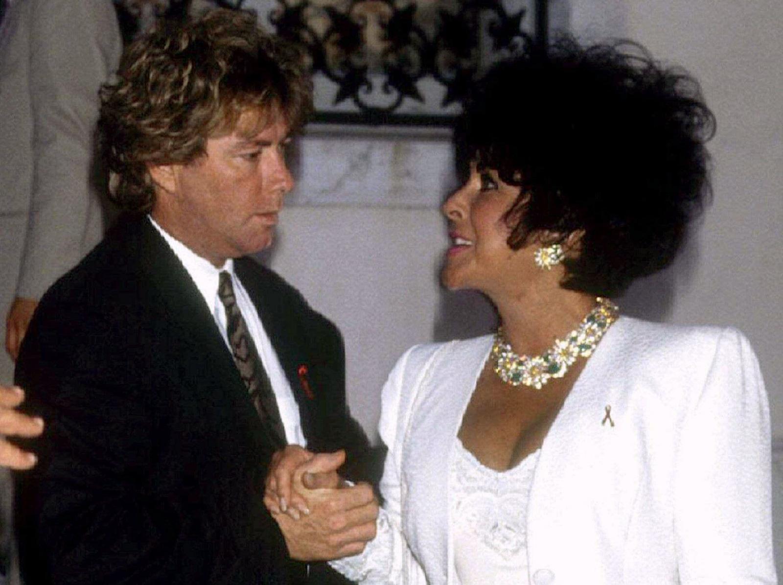 Elizabeth Taylor and husband Larry Fortenski