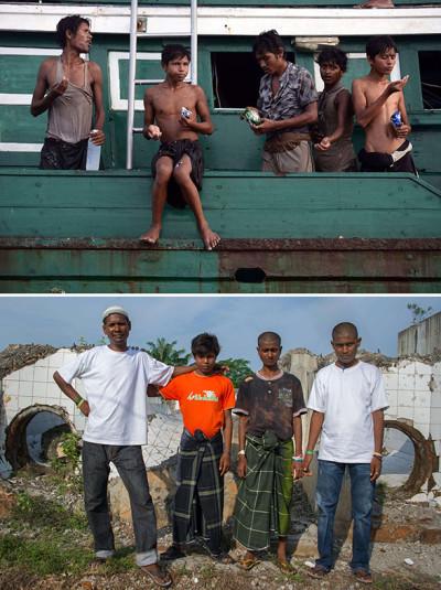 rohingya boat migrants Indonesia rescued