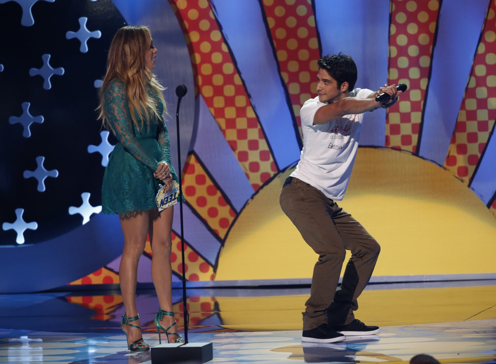 Jennifer Lopez and Tyler Posey