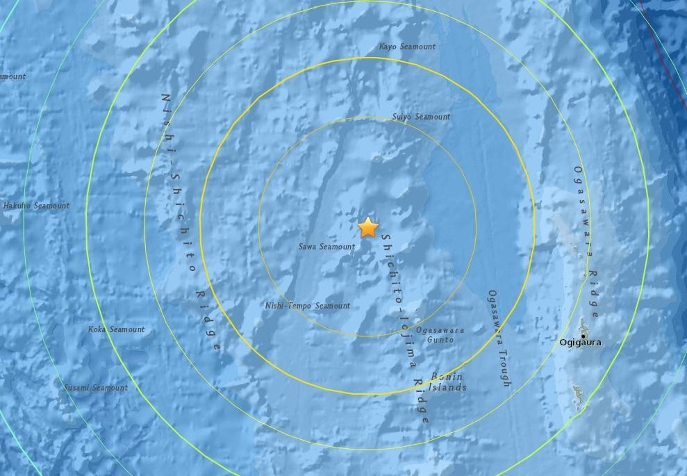 Undersea Japan earthquake