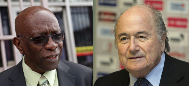 Jack Warner and Seb Blatter