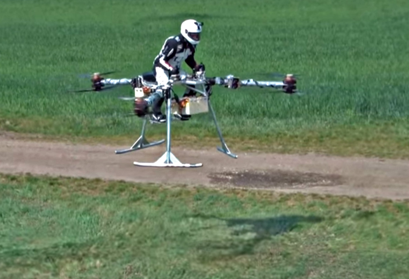 Flike's personal tricopter test flight in Hungary