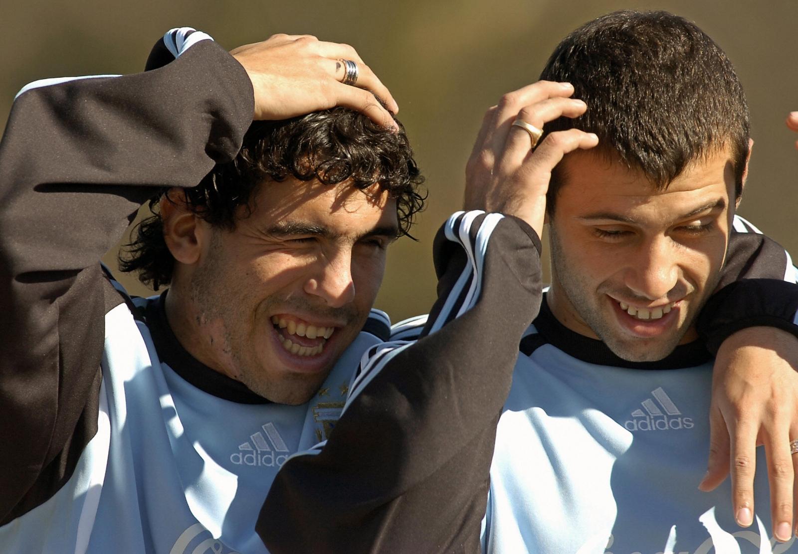 Mascherano and Tevez