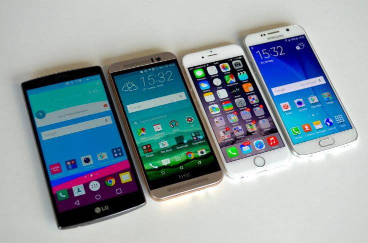 iPhone Galaxy S6 One M9 LG G4