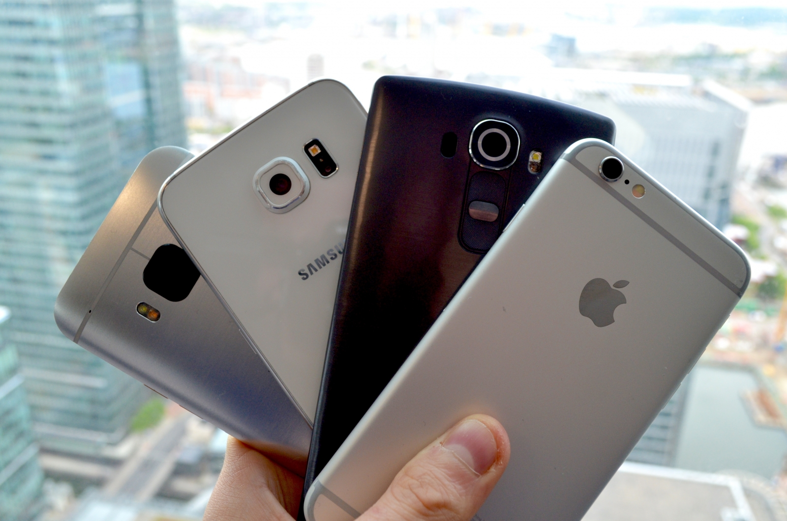 iPhone 6 Galaxy S6, One M9, G4