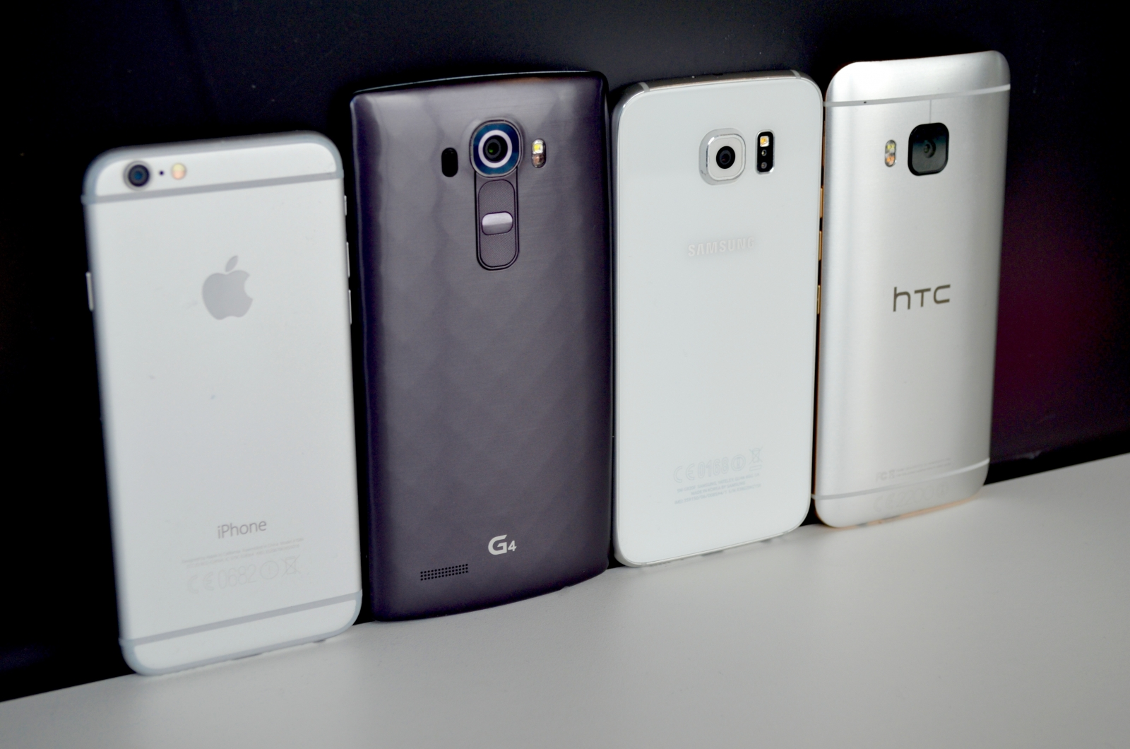 iPhone 6 Galaxy S6 HTC M9 G4