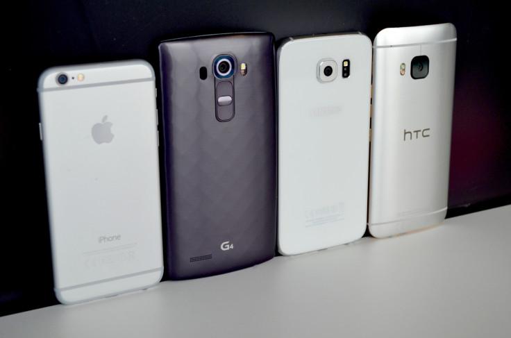 iPhone 6 Galaxy S6 HTC M9 G4
