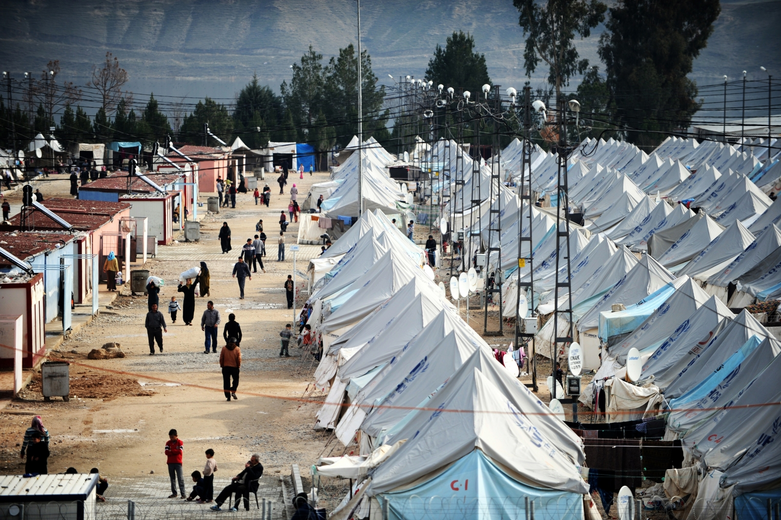 Camp for Syrian refugees in