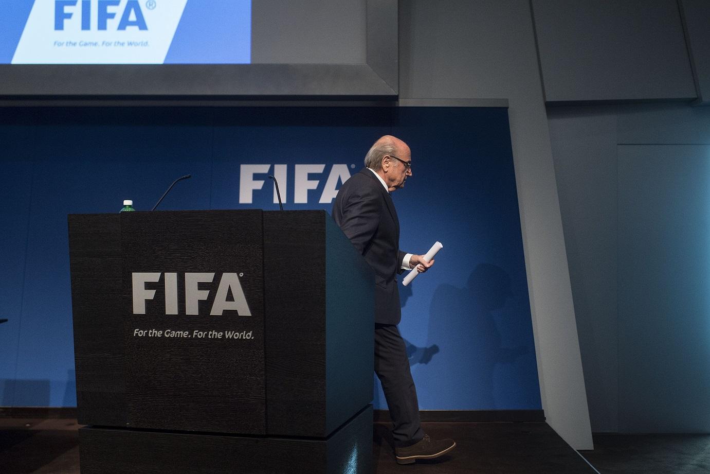 Sepp Blatter resigns