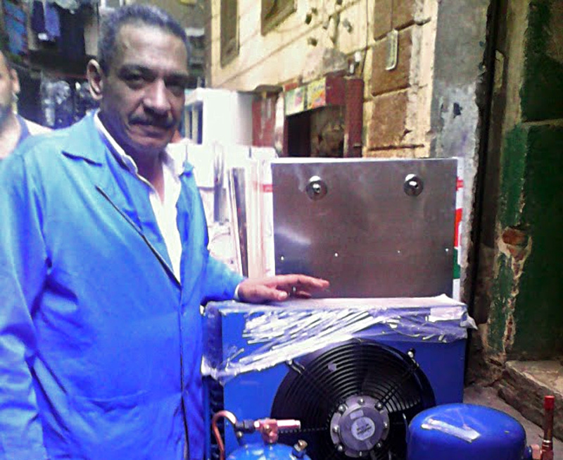 Saber al-Toni, the famous repairman in Egypt