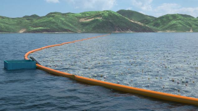 Ocean Cleanup barrier