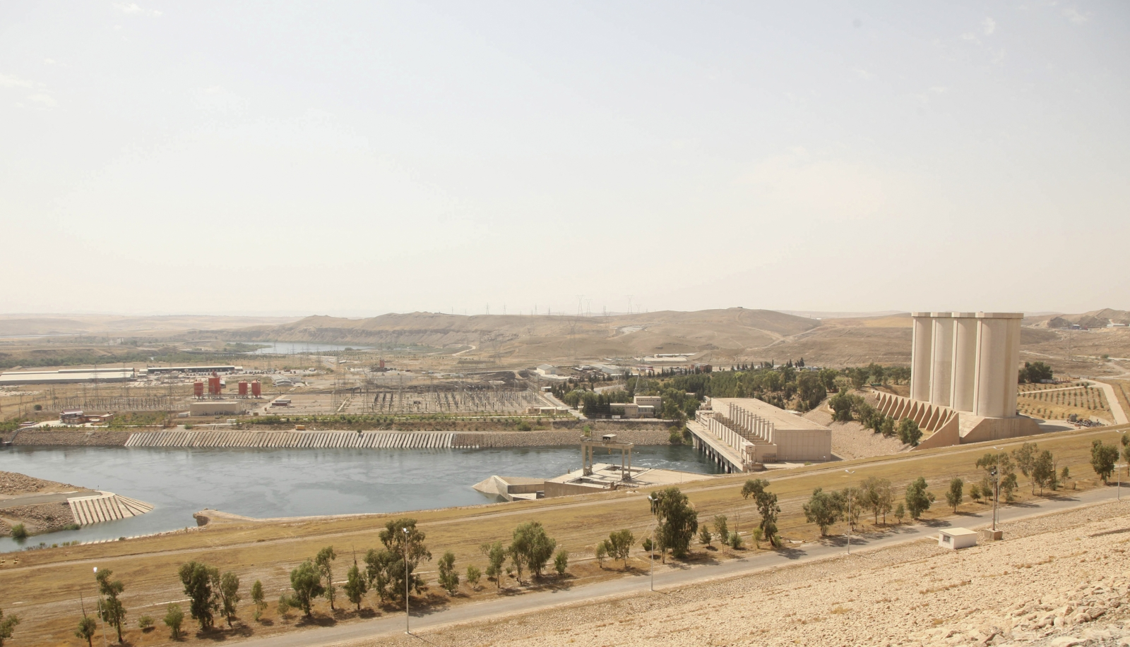 general view of Mosul Dam