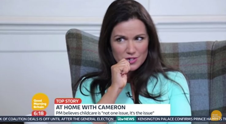 Susanna Reid interviewing David Cameron