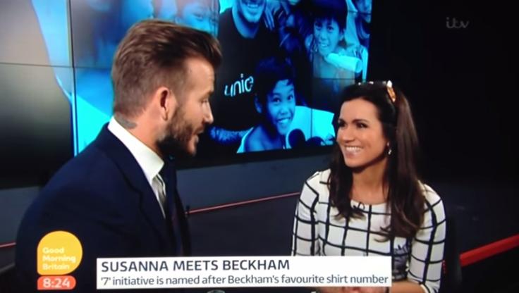 Susanna Reid interviewing David Beckham