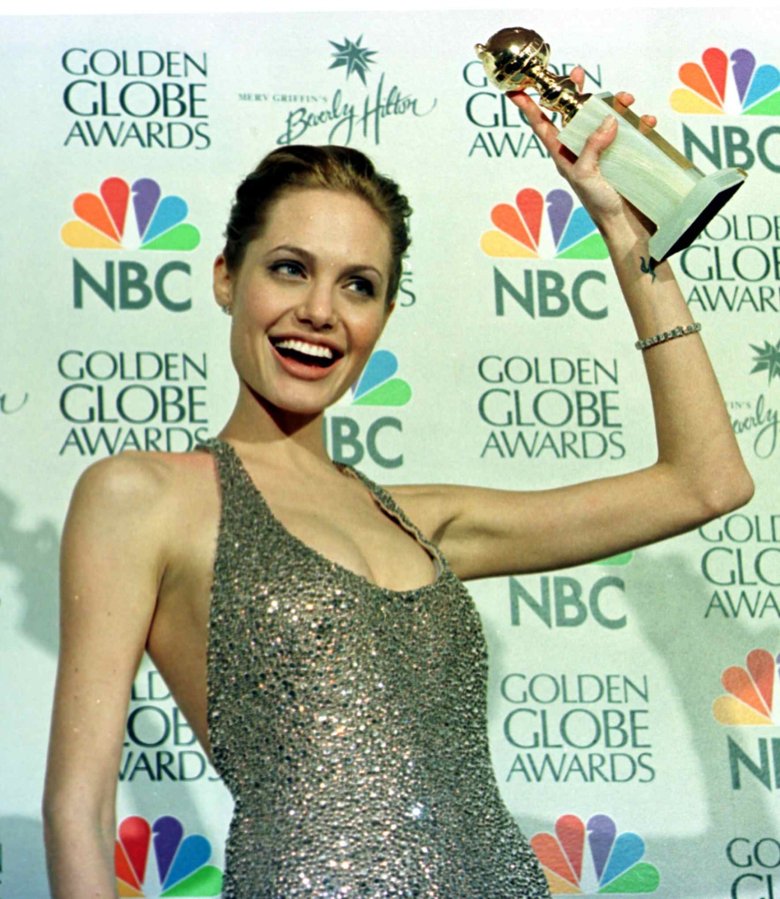 Angelina Jolie wins Golden Globe for Gia