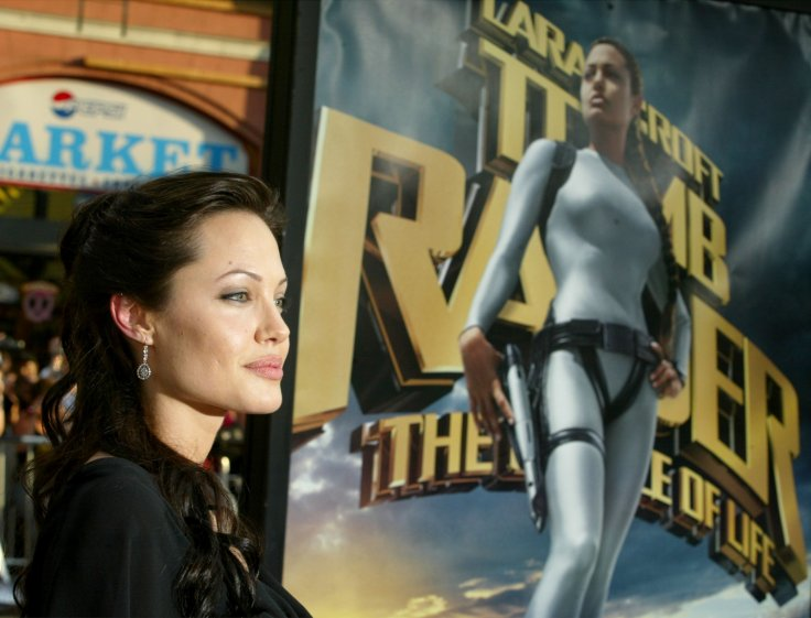 Angelina Jolie promoting Tomb Raider 2
