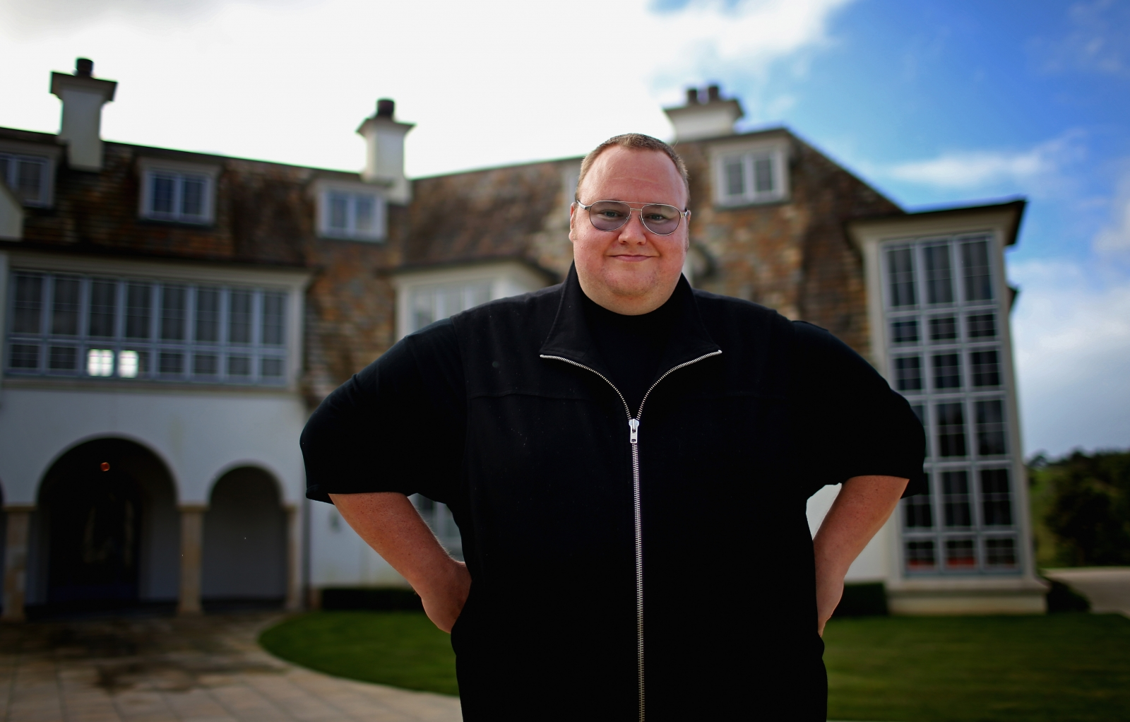 Kim Dotcom and his mansion in Auckland