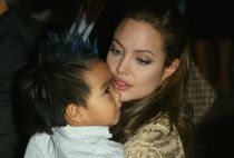 Angelina Jolie and her son Maddox