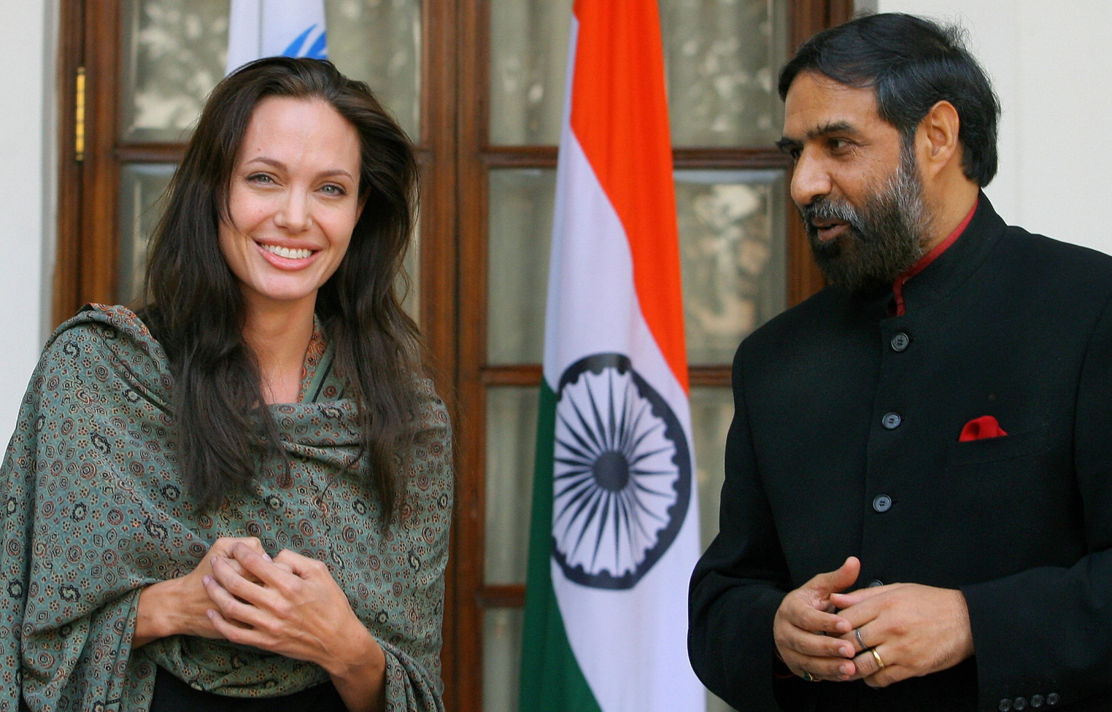 Angelina Jolie and Anand Sharma