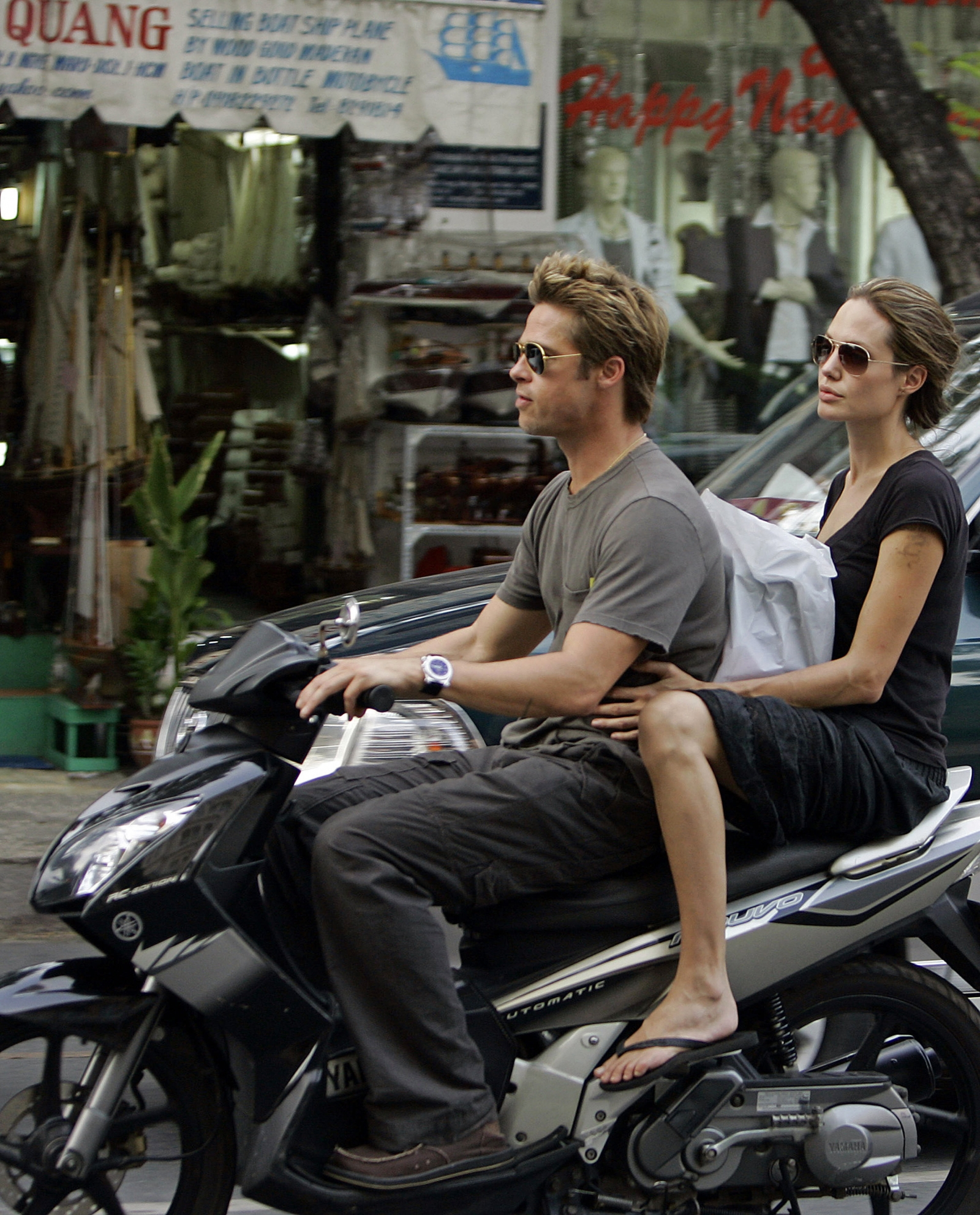 Brad Pitt and Angelina Jolie in Vietnam