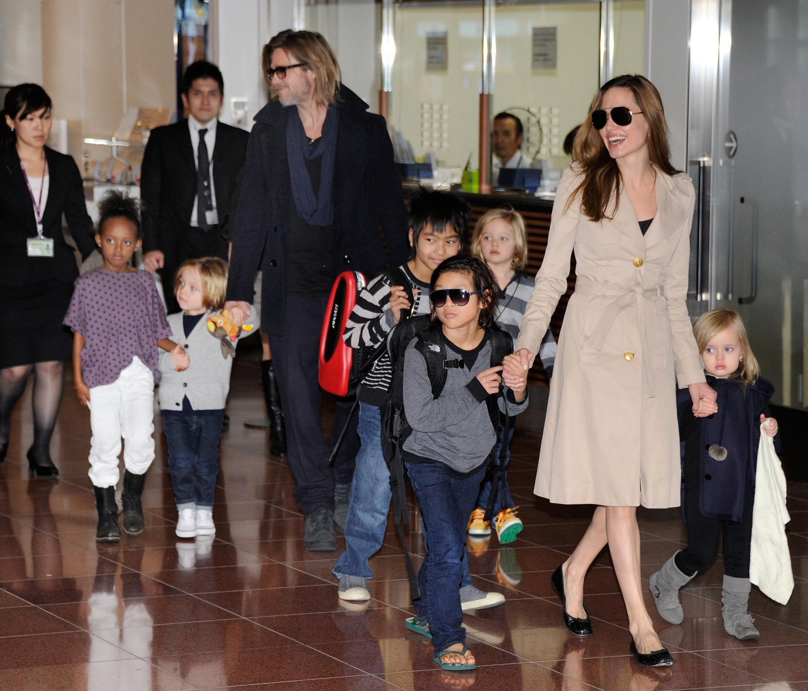 Brad Pitt, Angelina Jolie and their children