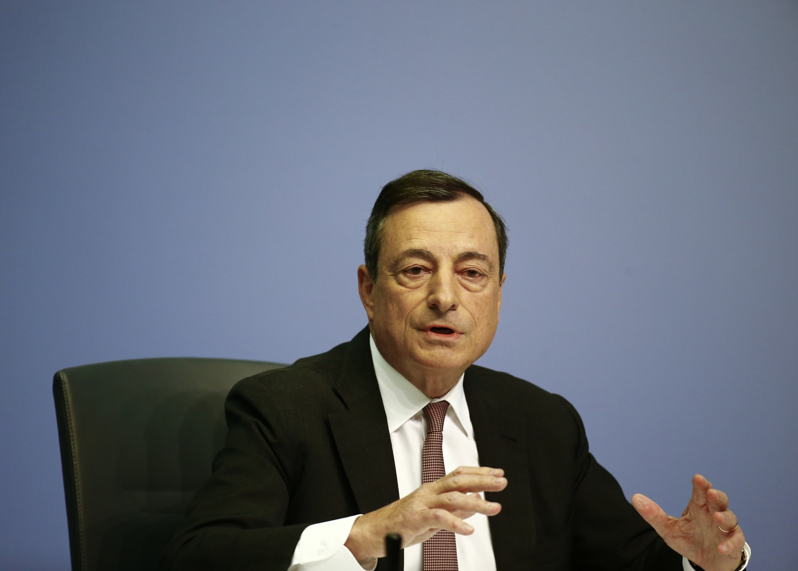 Draghi during monetary policy conference