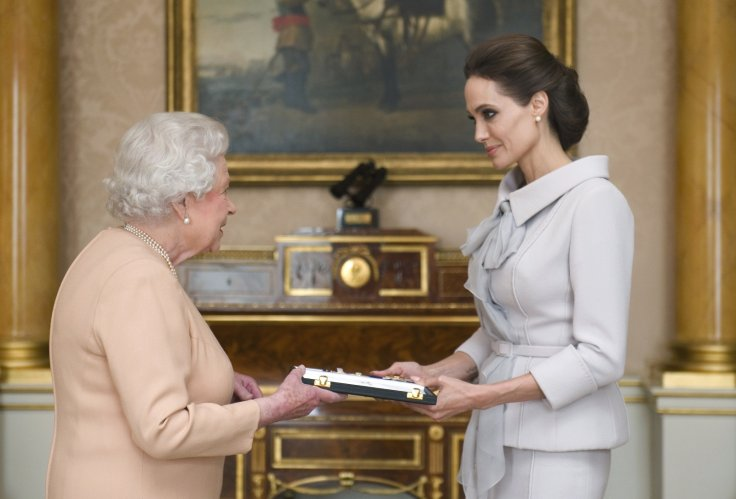 Angelina Jolie and Queen Elizabeth