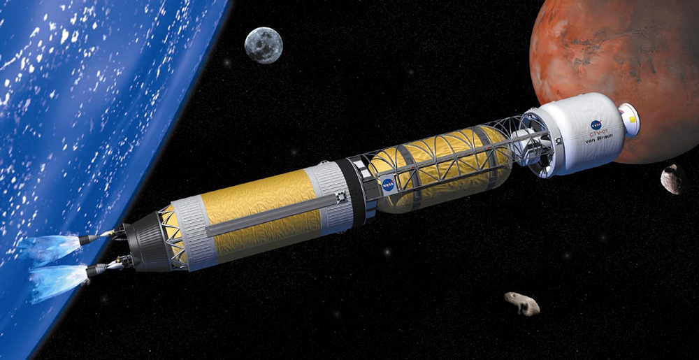 Nasa nuclear thermal rocket concept