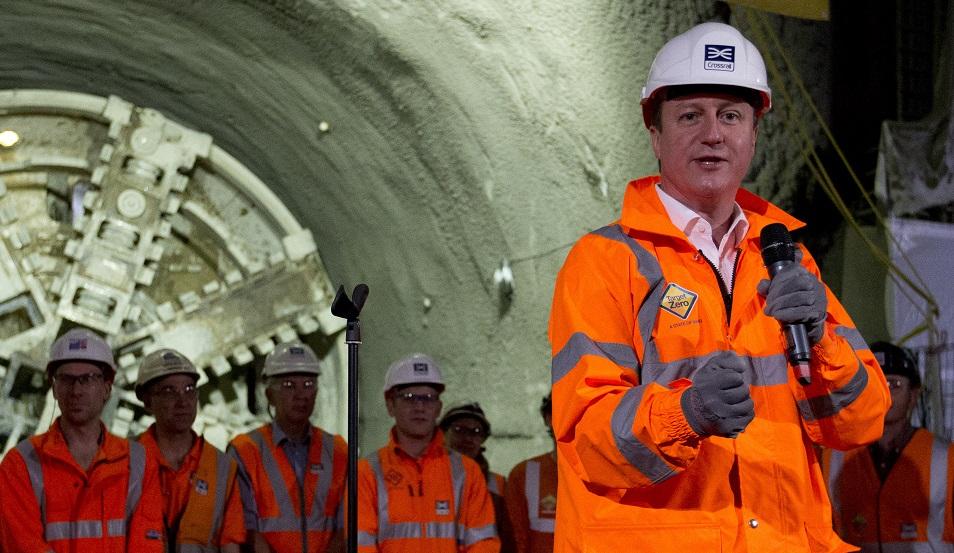 David Cameron thanks Crossrail staff