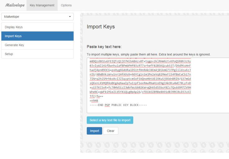 Import your friend's public key