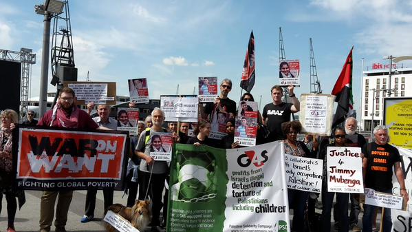 Protesters at the G4S AGM