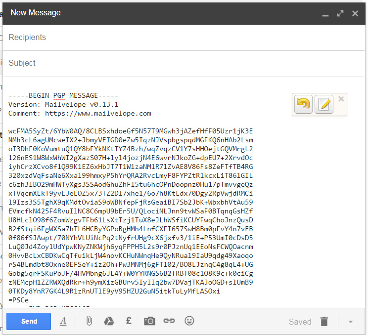 What your encrypted message will look like