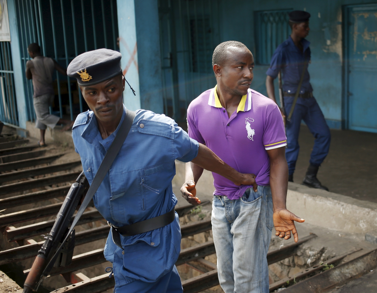 Burundi protesters arrest
