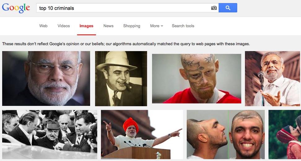 Google Narendra Modi top 10 criminals