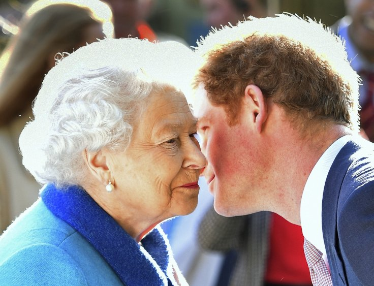 Prince Harry and the queen