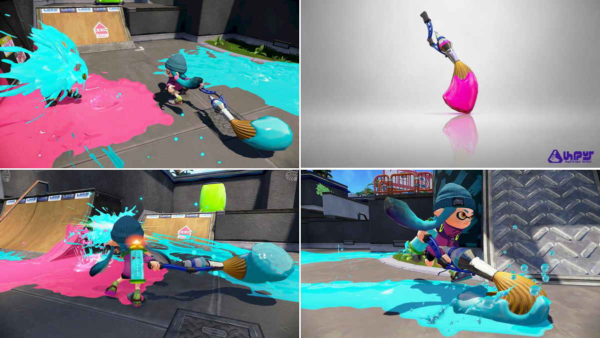 Splatoon Paintbrush Weapon