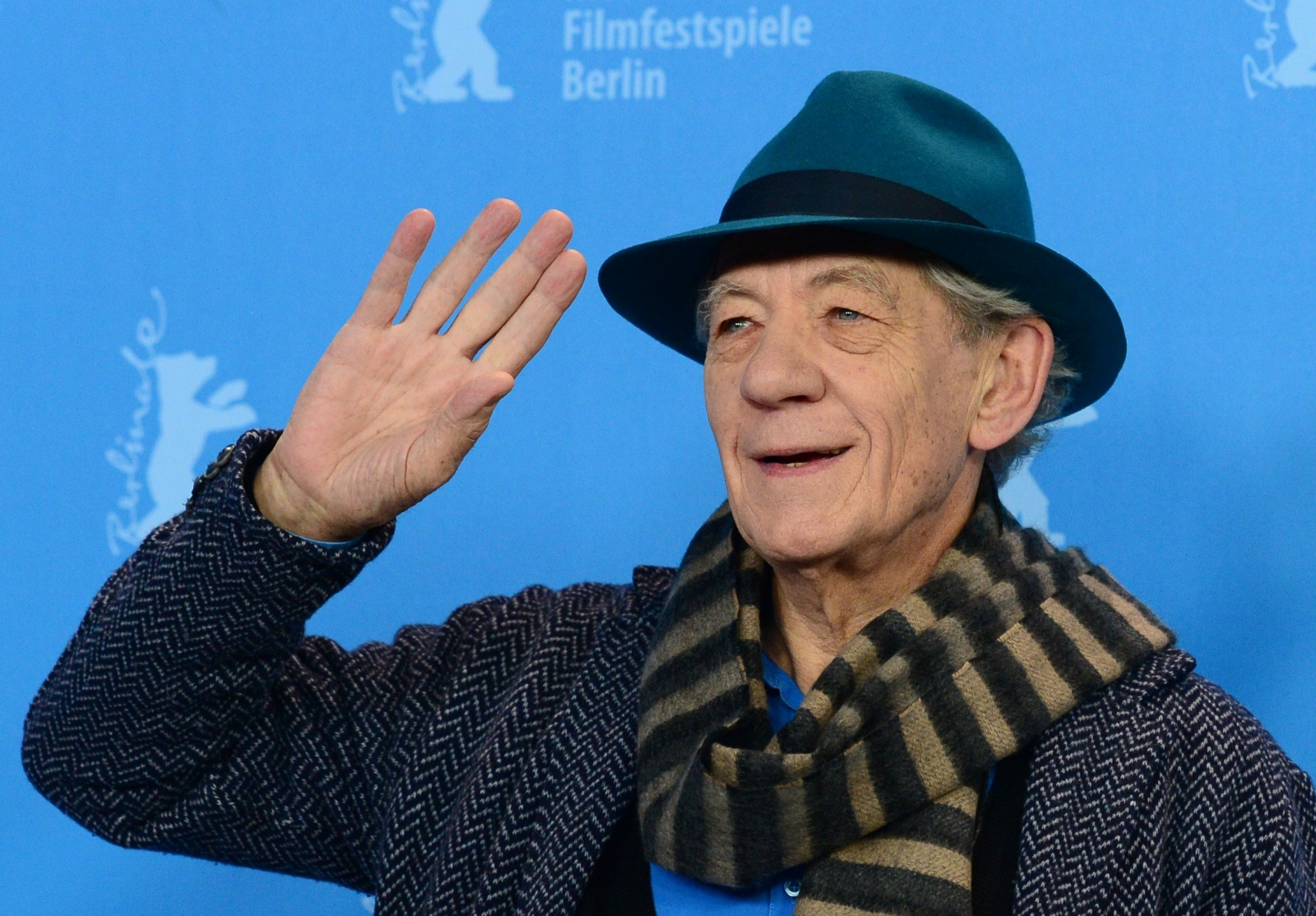 Ian McKellen promoting Mr. Holmes