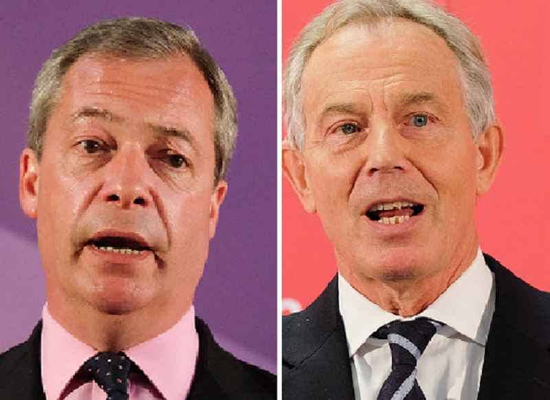 Nigel Farage and Tony Blair