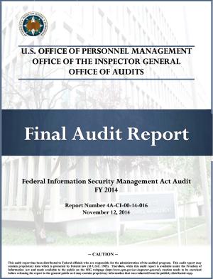 OPM Secuity management audit
