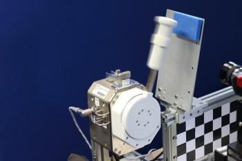 Moving the joystick transfers haptic pressure signals