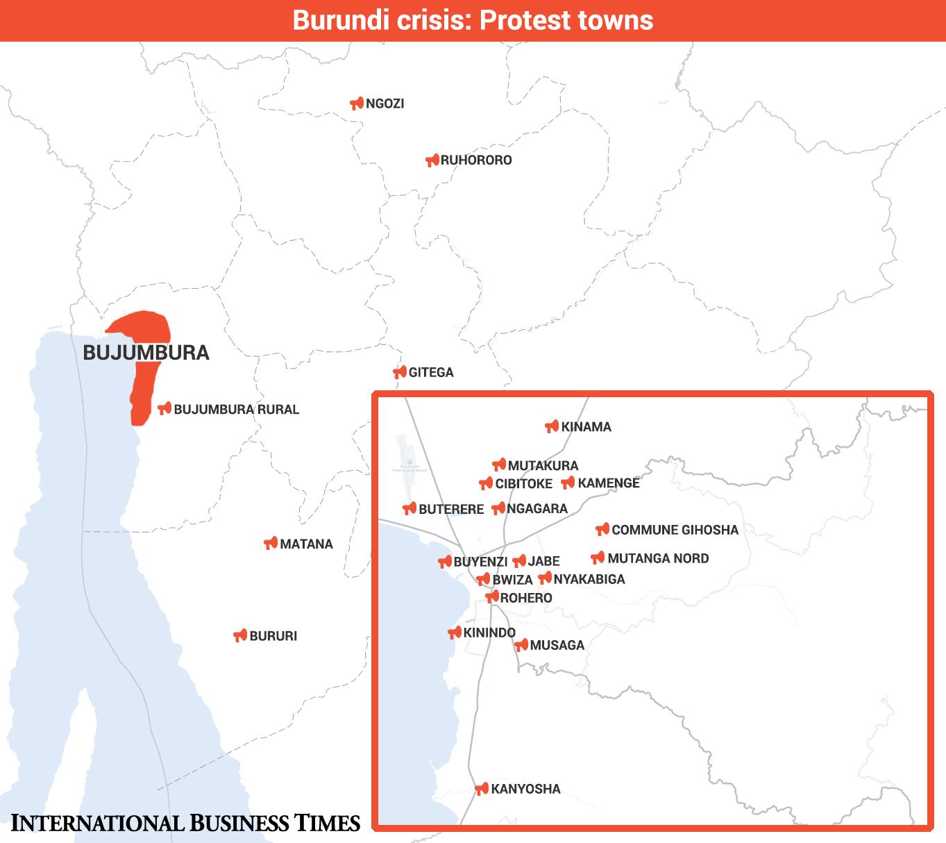 Burundi protest towns