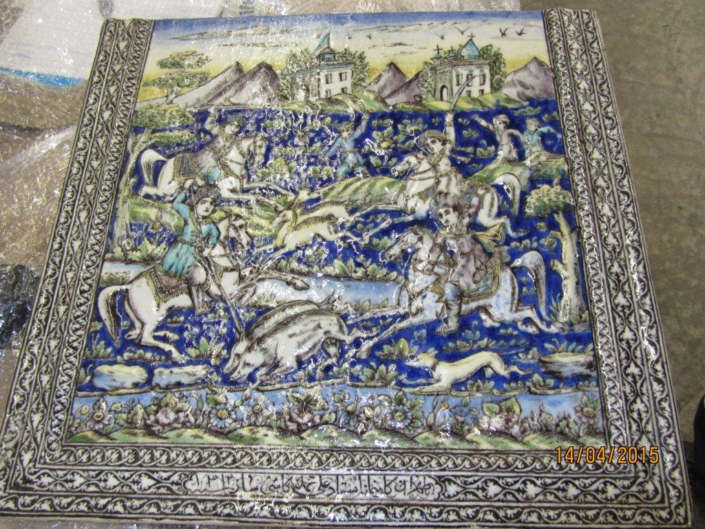 Ottoman ceramic Syria Finland stolen Artefact Russia