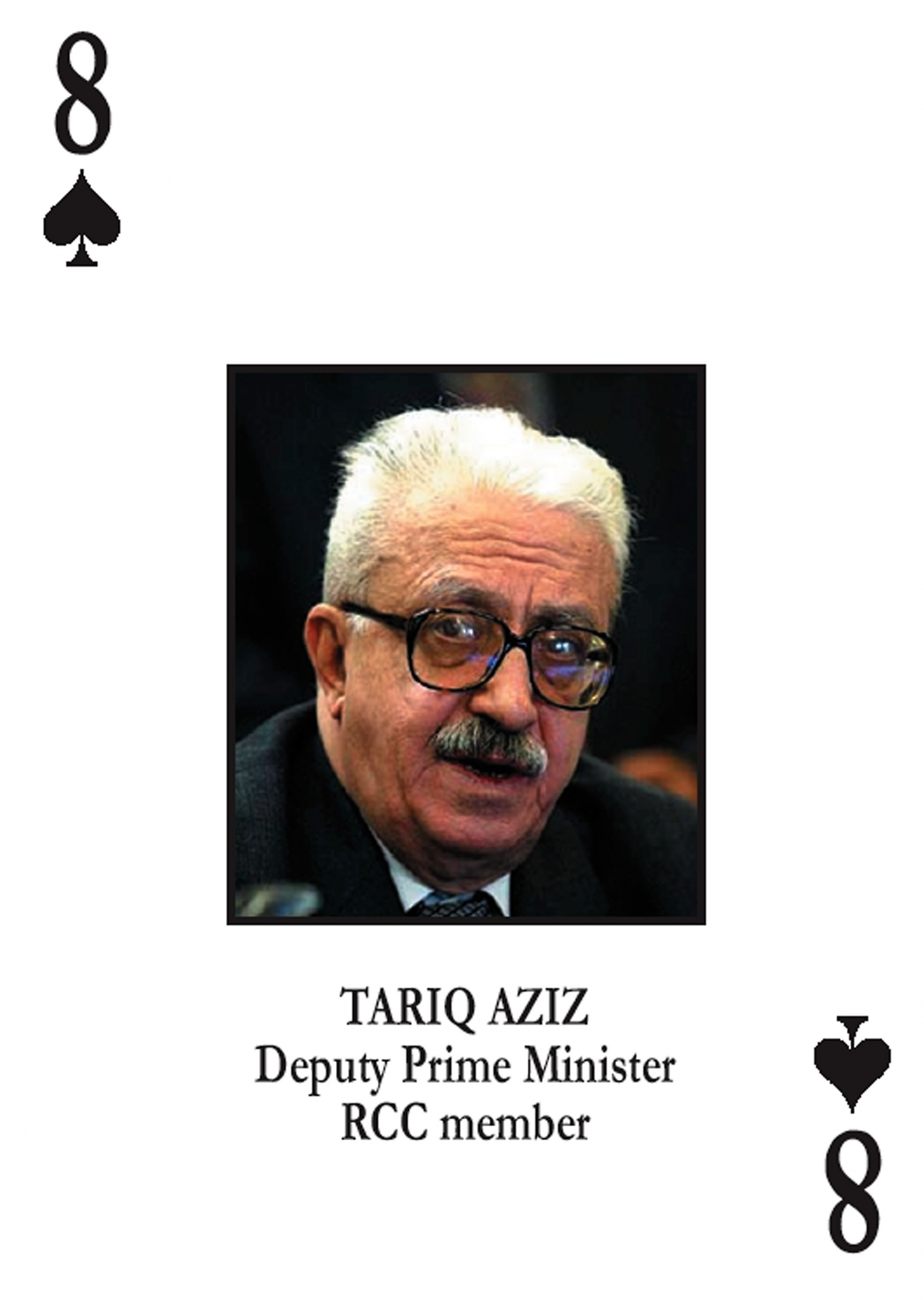 Tariq Aziz eight of Spades